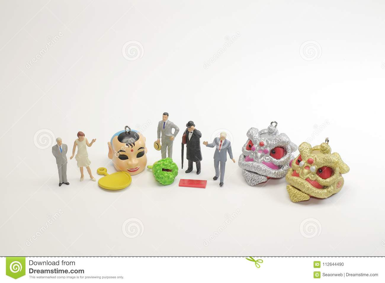 9652ad92d A Small Toys Of Lion Dance At New Year Stock Photo - Image of lion ...