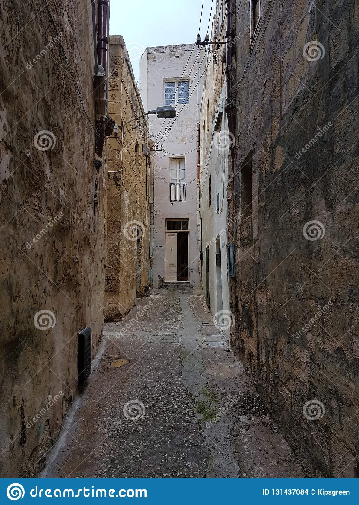 Village Life, Through The Open Door Editorial Stock Image - Image of