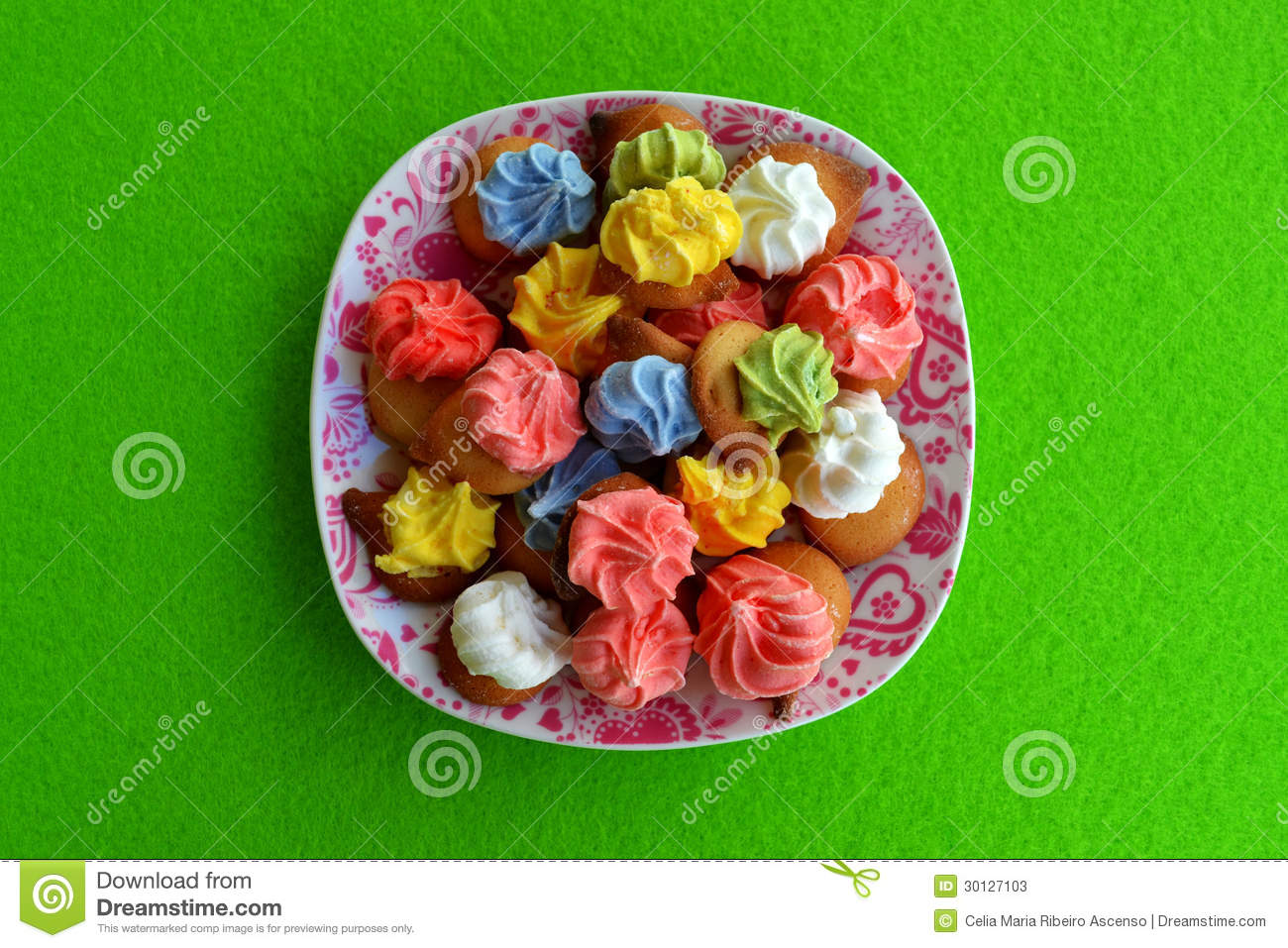 Traditional Portuguese Cookies On A Dish Stock Image