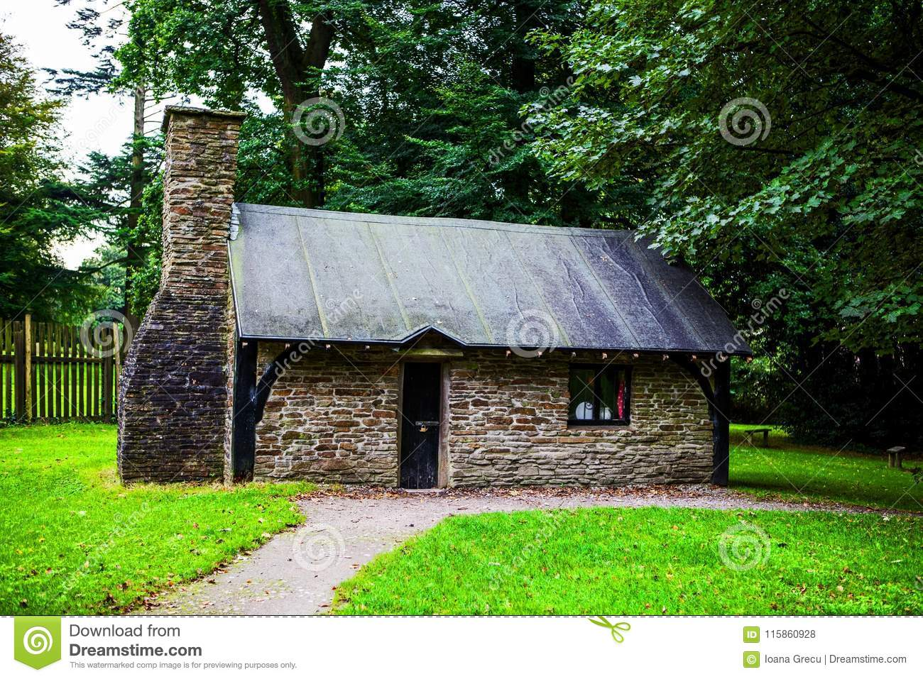 Small traditional house at Margam Park