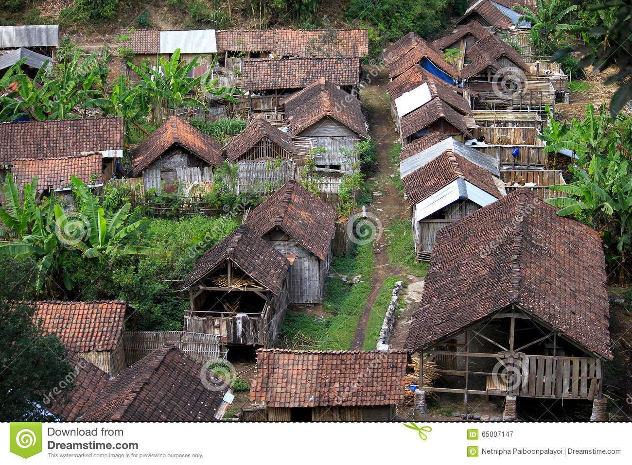 Small Traditional Village In Indonesia Stock Image Image