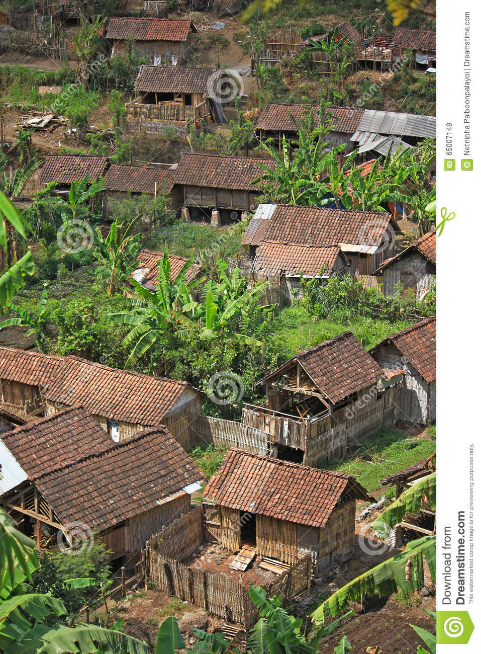Small Traditional Village In Indonesia Stock Photo Image