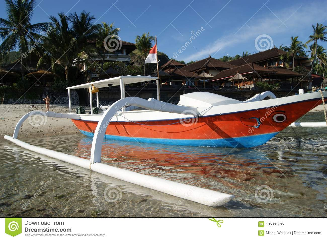 Fishing Trimaran in Bali, Indonesia