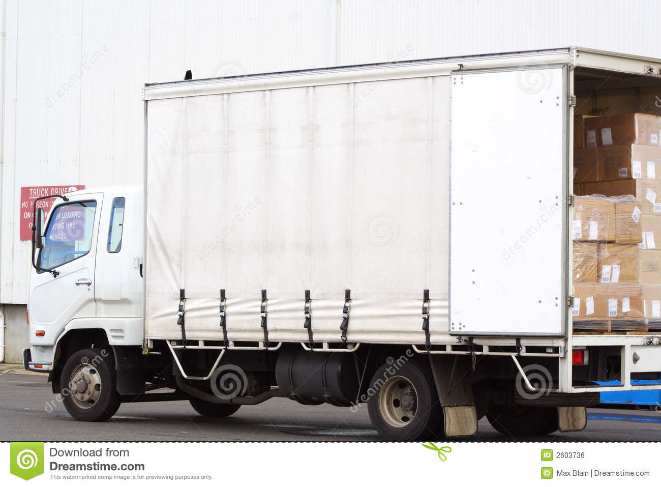 small truck for transportation cargo  flat style