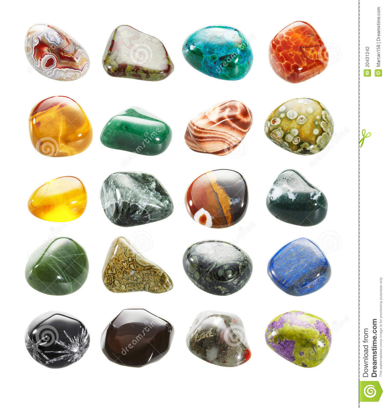 small tumbled stones collection stock photo image 20431242