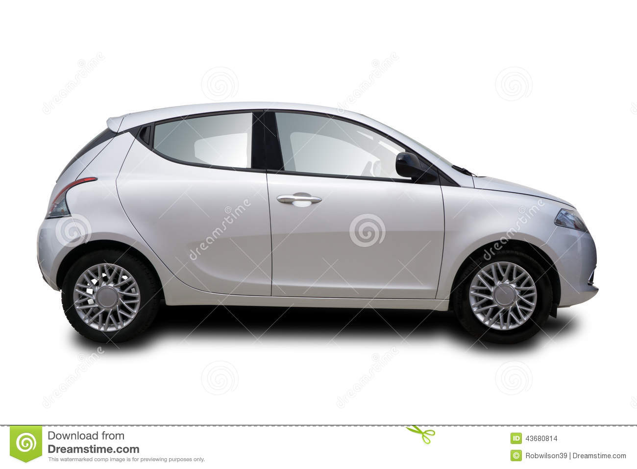 Small Two Door Car Stock Photo - Image: 43680814