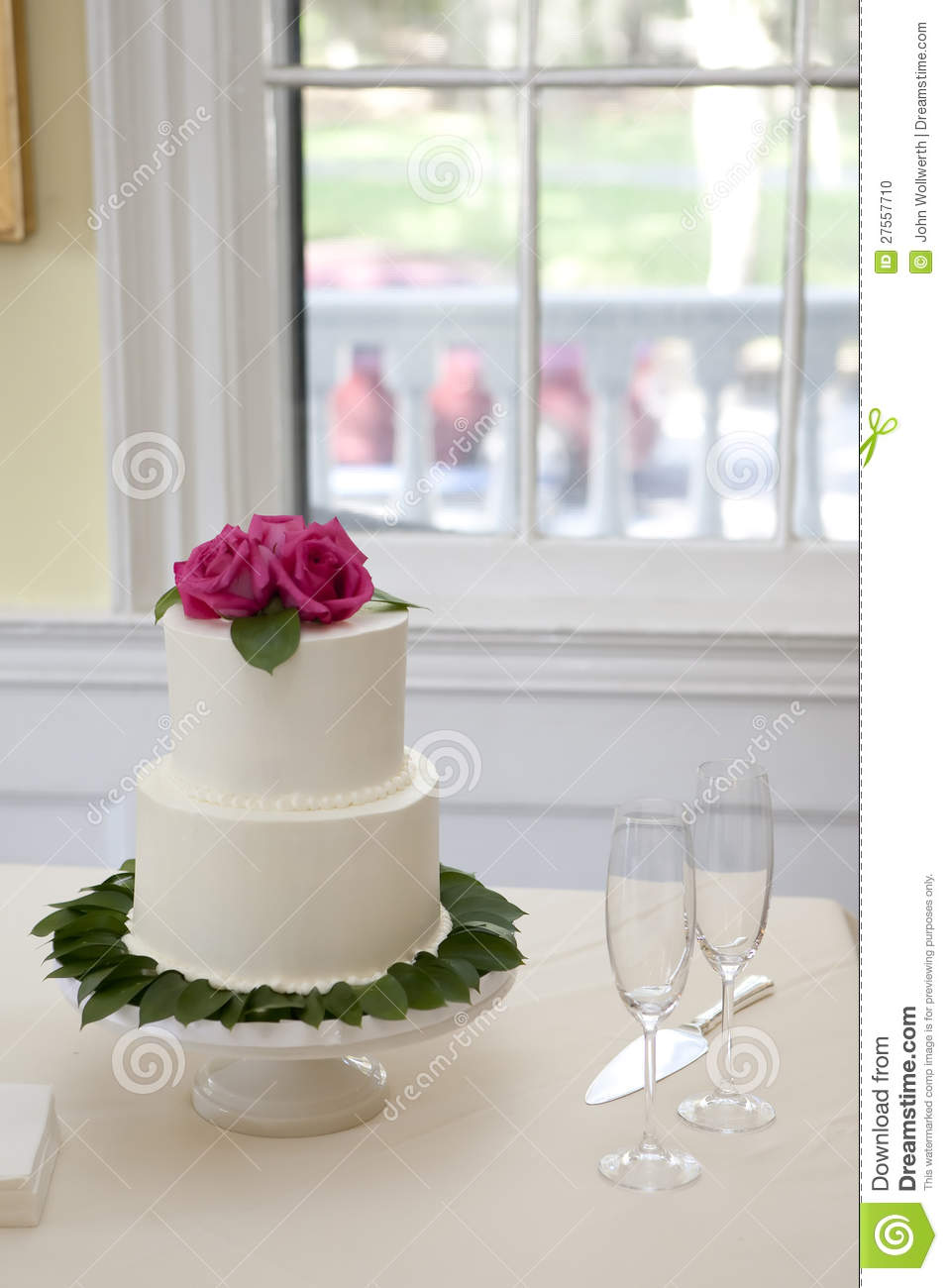 Small Two Tiered Wedding Cake Stock Photo Image Of Decorate