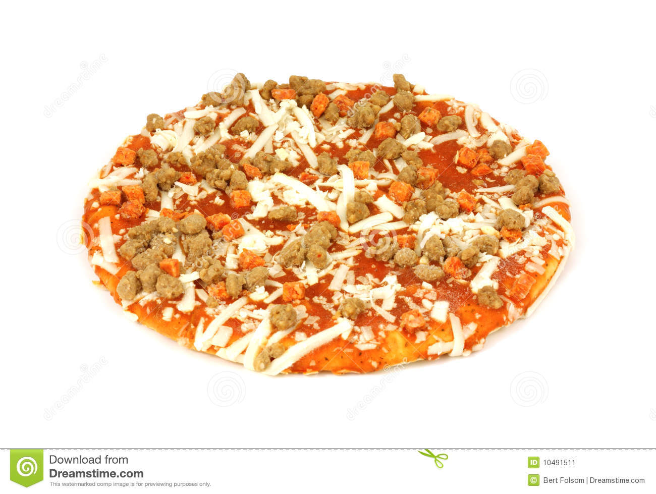 Small Uncooked Pizza Stock Image - Image: 10491511