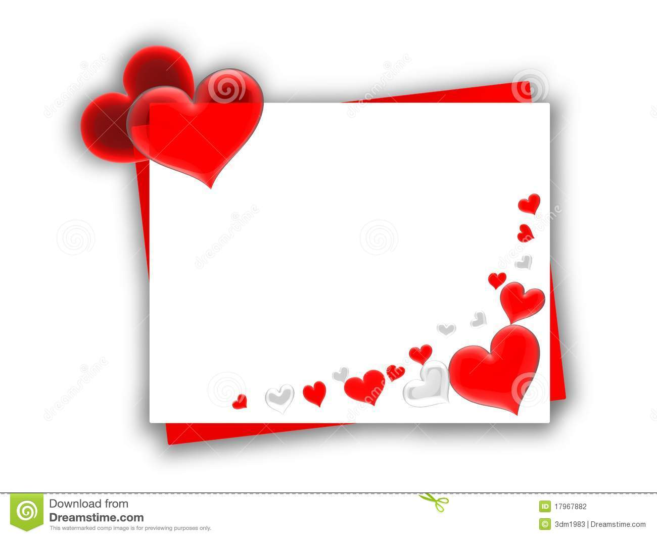 Small Valentine Card Stock Photography