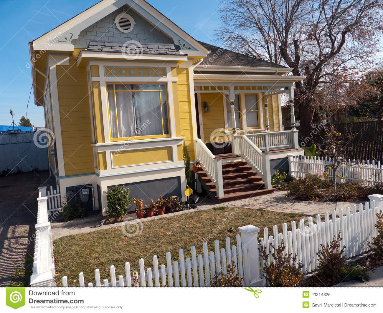small victorian style house royalty free stock photo