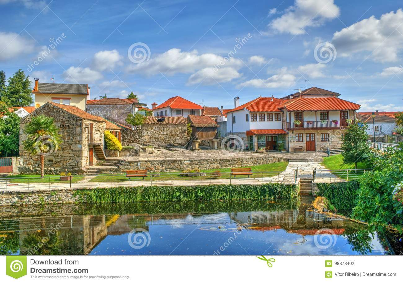 Download Small village of Boticas stock photo. Image of city, hills - 98878402