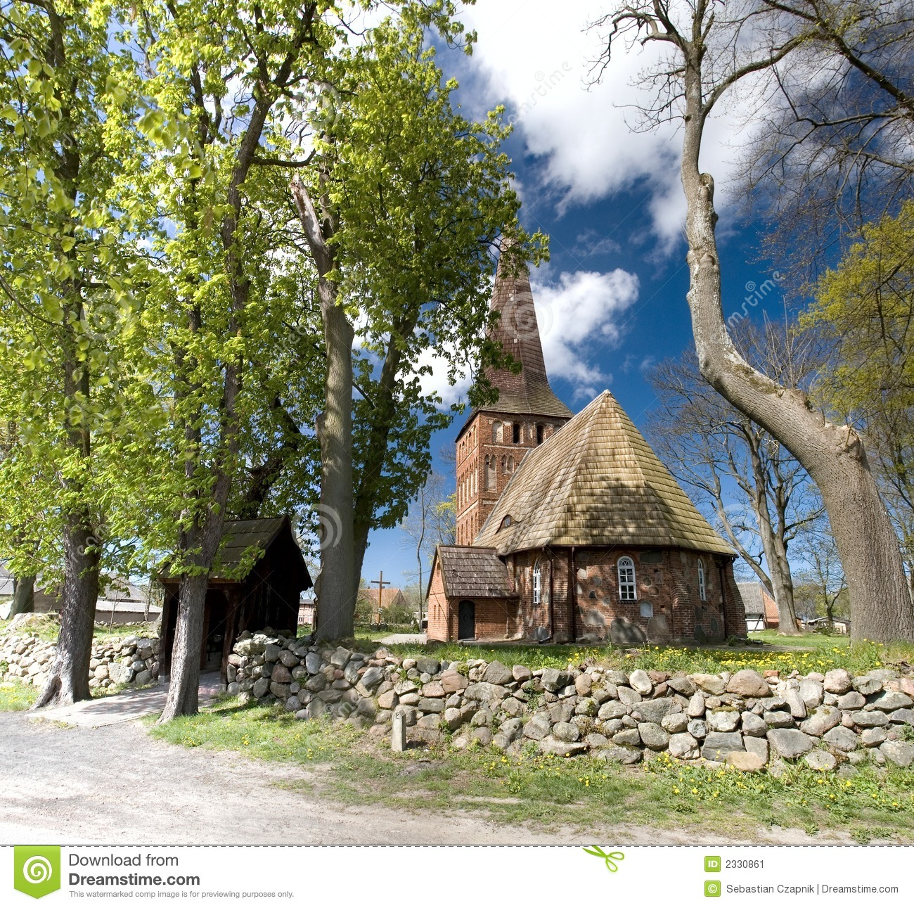 Small Village Church Stock Image Image Of Spring Holy