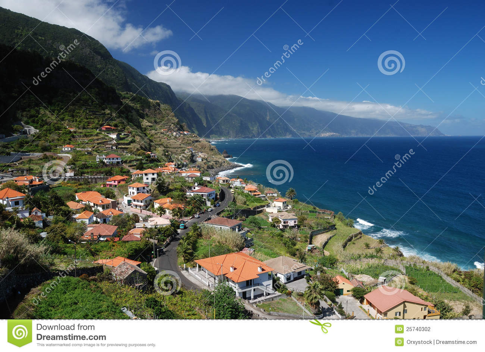 Small village at coast of madeira, portugal