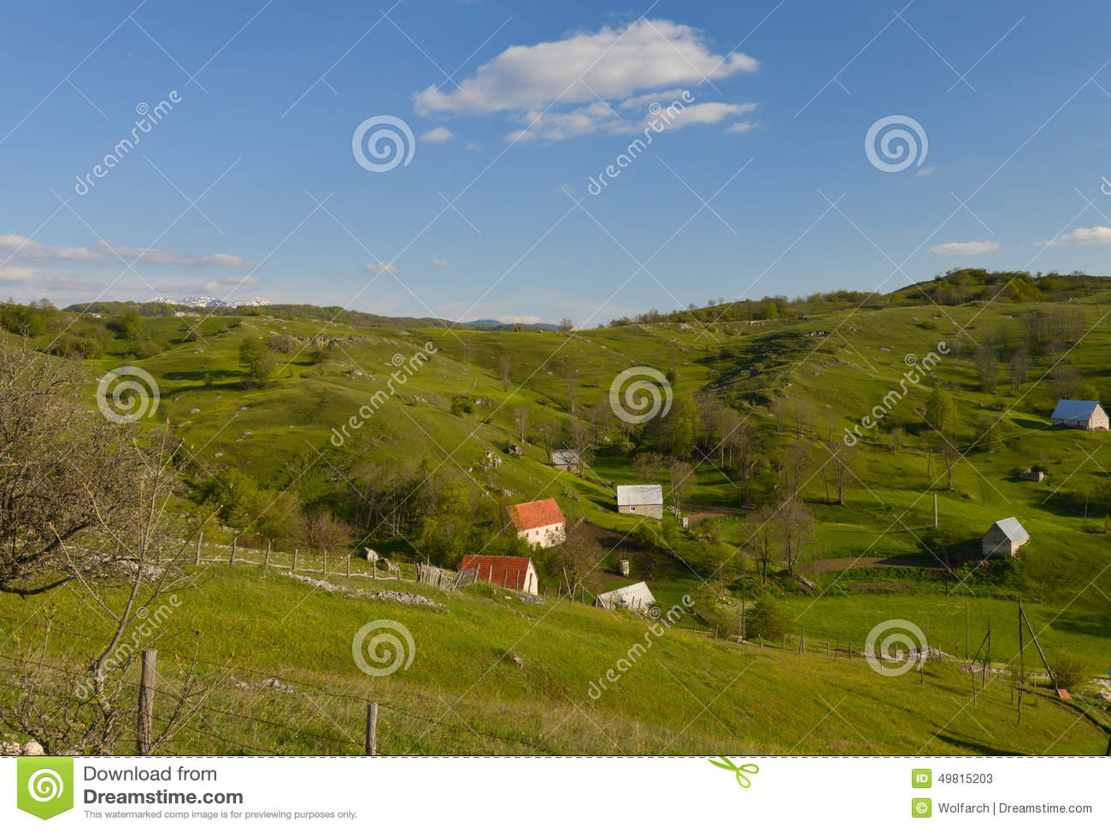 A small village in Montenegro