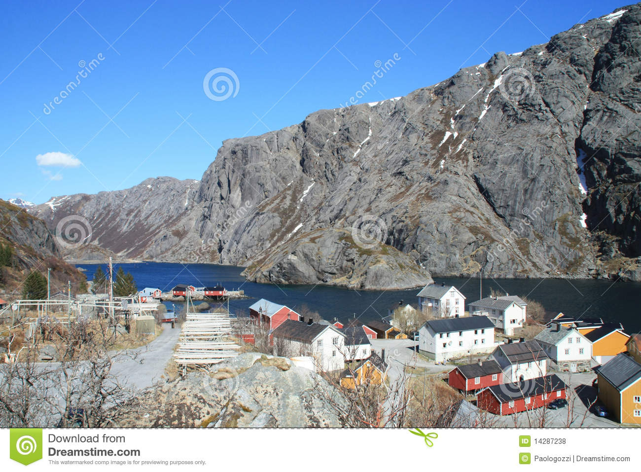 The small village of nusfjord royalty free stock photos image 14287238 - The house on the rock the ultimate refuge in a norwegian fjord ...