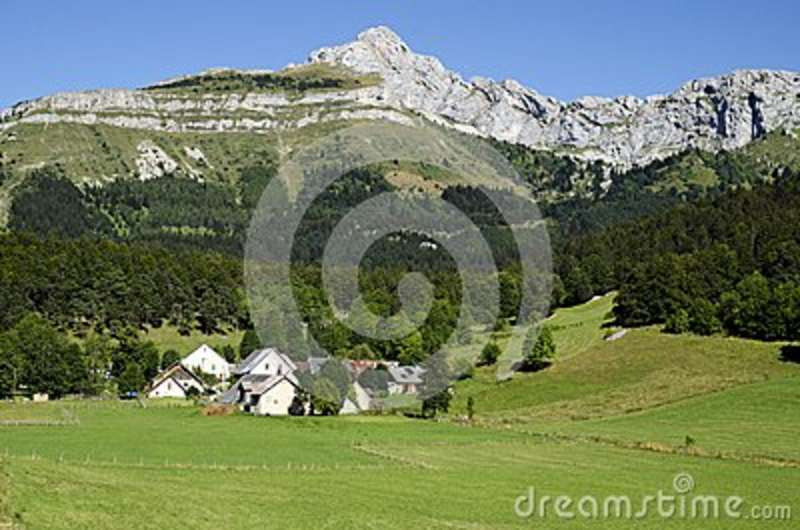 Small village in the Vercors range. France