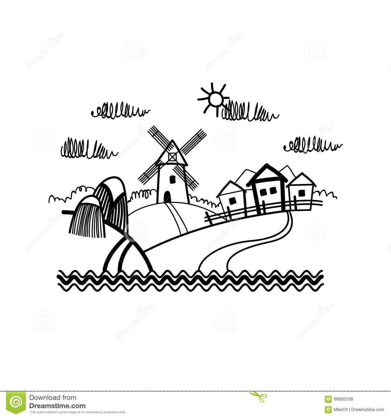 A Simple Sketch Of A Harvest From The Farm Stock Vector ... for Simple Farm Sketch  143gtk