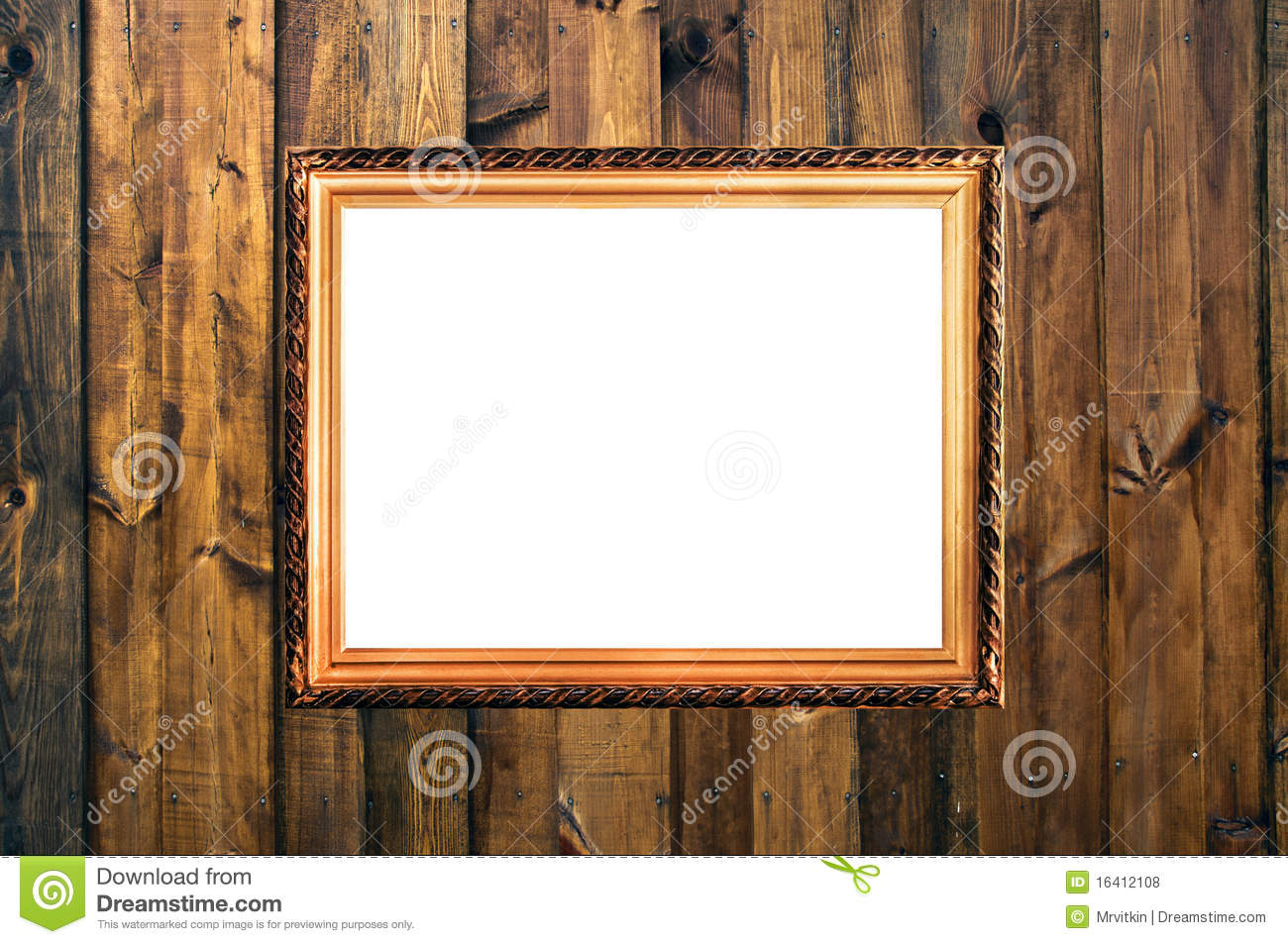 Small Vintage Frame On Wooden Planks Royalty Free Stock Photos - Image ...