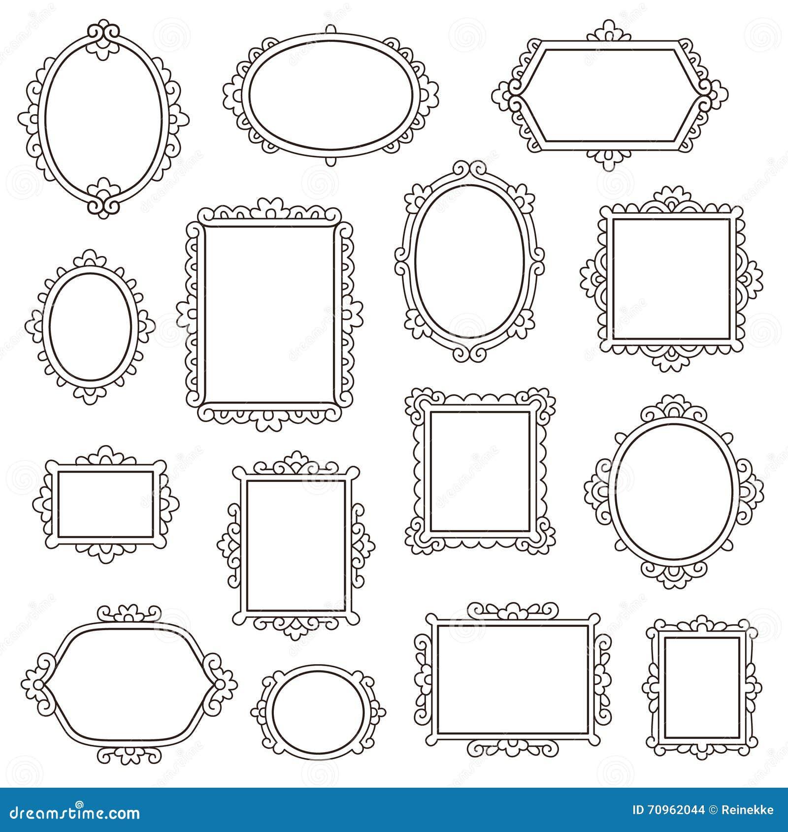 Small vintage frames stock vector. Illustration of elegant - 70962044