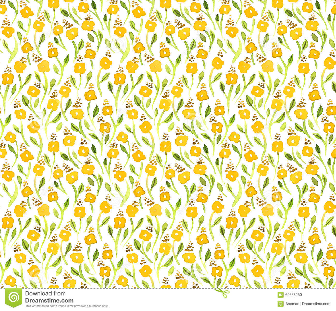 yellow floral pattern - photo #36