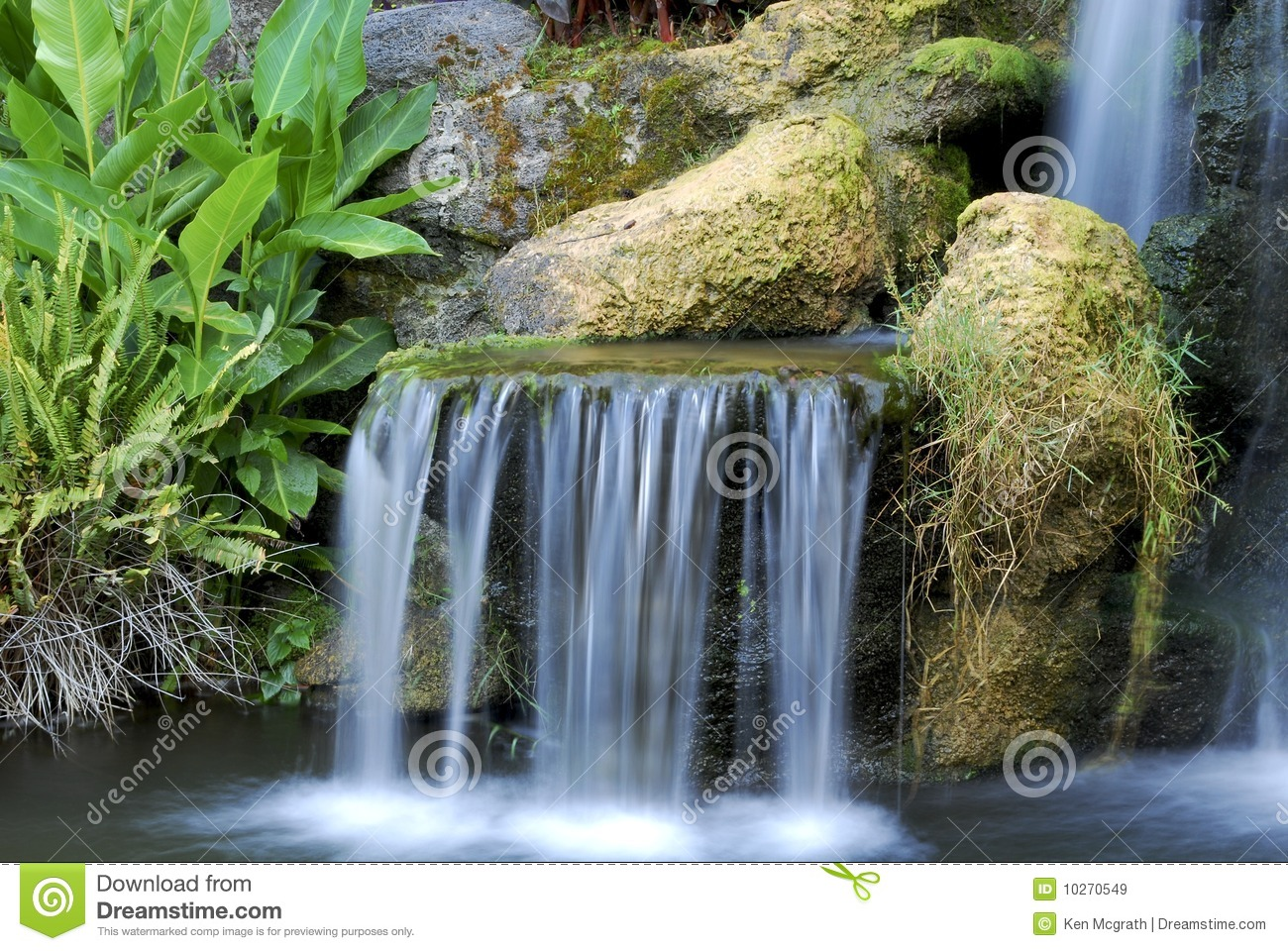 Small Waterfall Royalty Free Stock Images Image 10270549