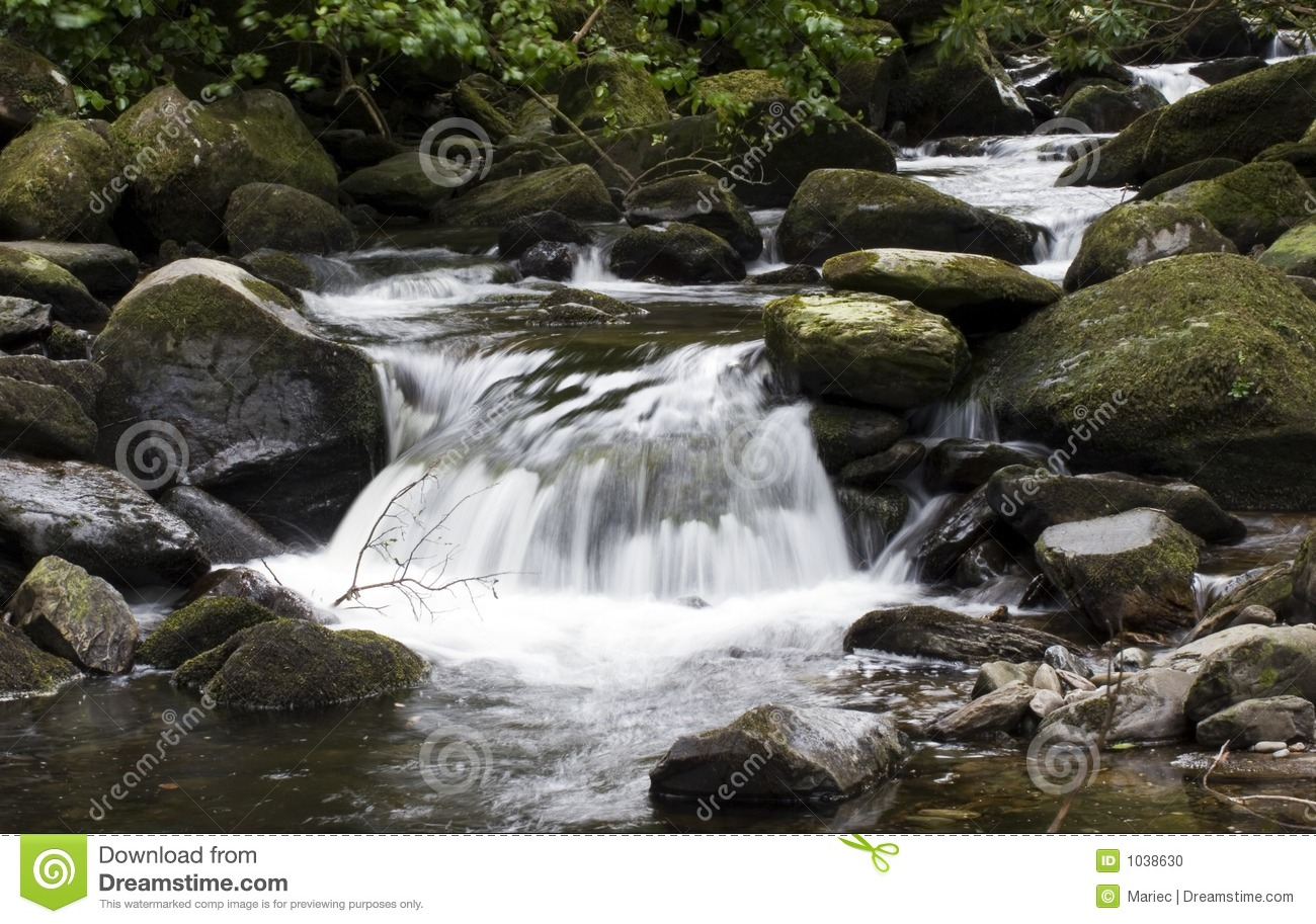 Small Waterfall Stock Photo Image Of Motion Undergrowth 1038630