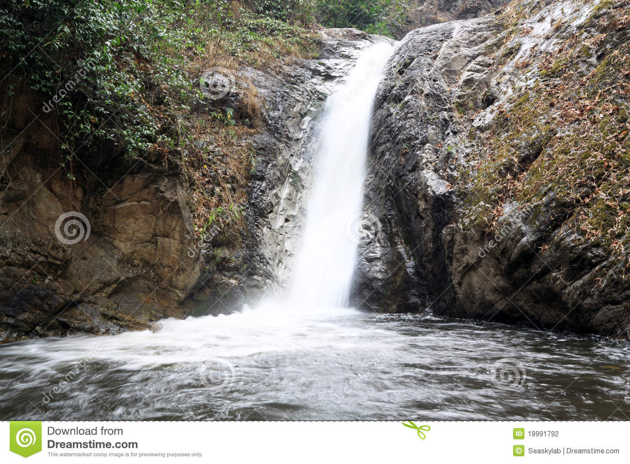 Small waterfall stock photo image of mountain water for Pictures of small waterfalls