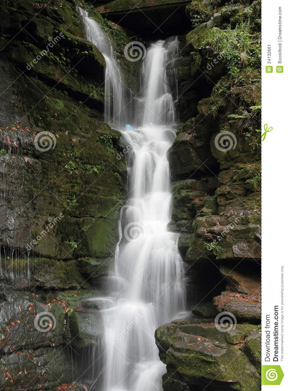 A small waterfall stock image image 24132661 for Pictures of small waterfalls