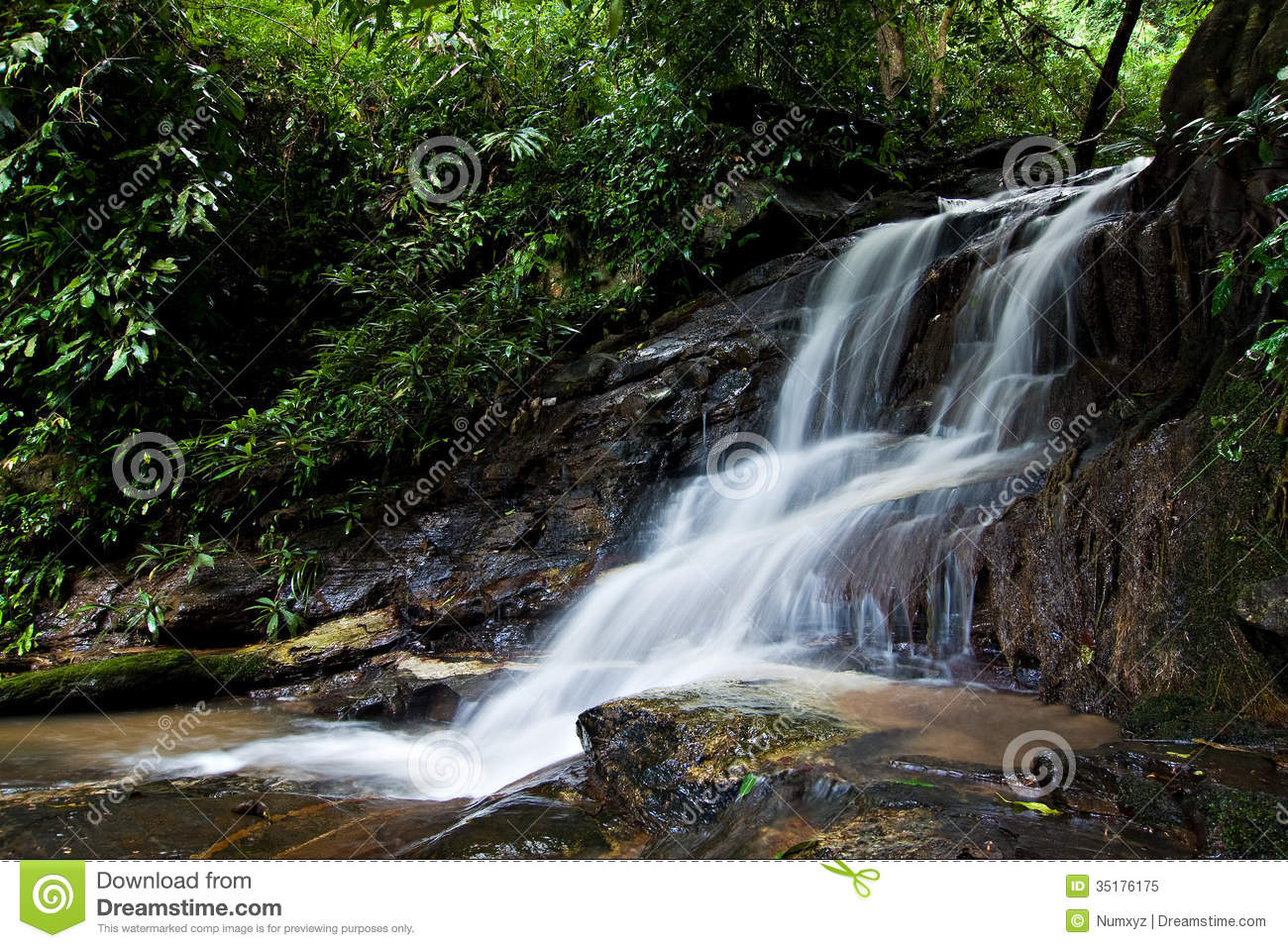 Small waterfall royalty free stock photo image 35176175 for Pictures of small waterfalls