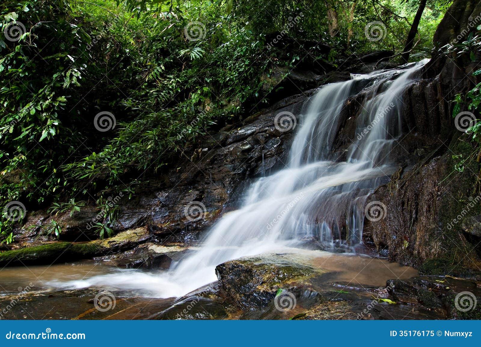 Small Waterfall Royalty Free Stock Photo Image 35176175