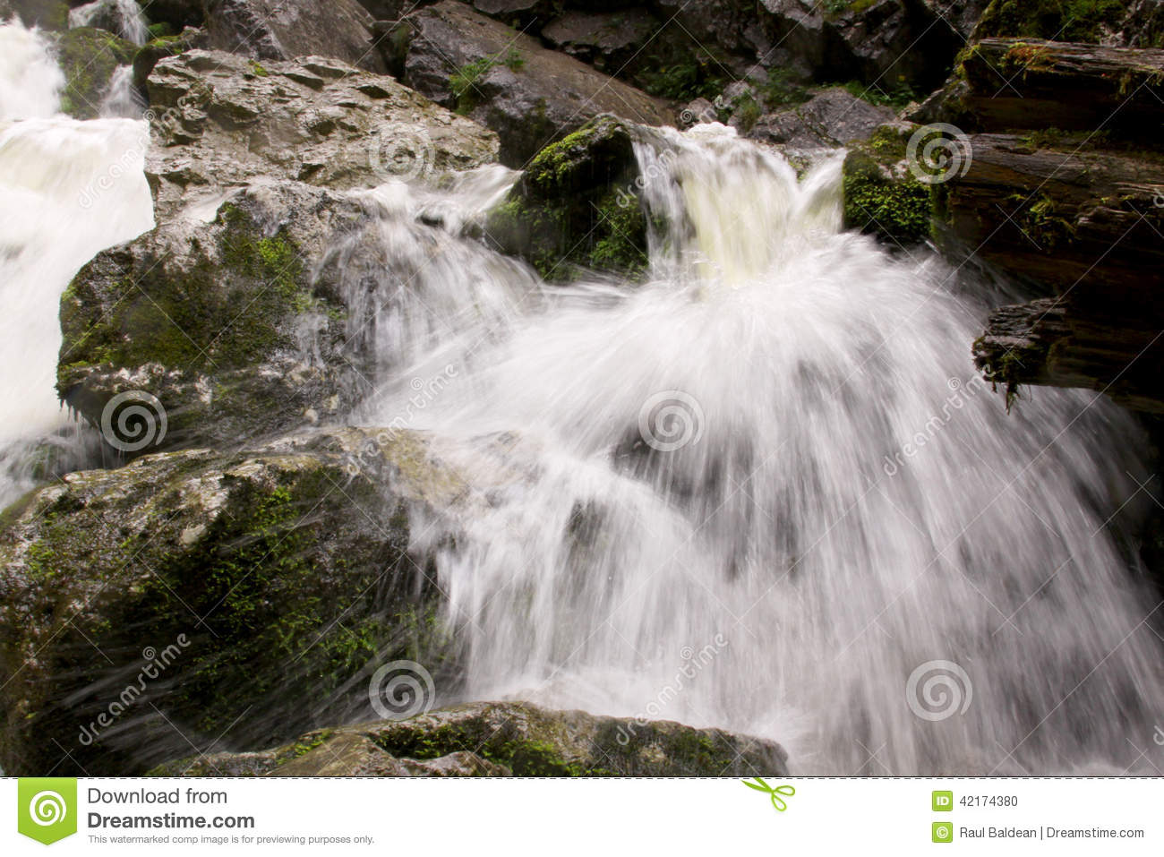 Small waterfall in river bed 03