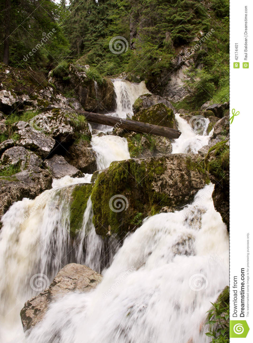 Small waterfall in river bed 06