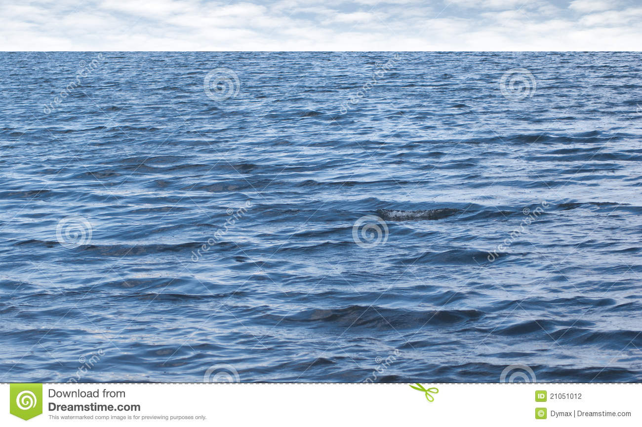 Small Waves On Pure Blue Sea Water With Cloudy Sky Stock Photography ...