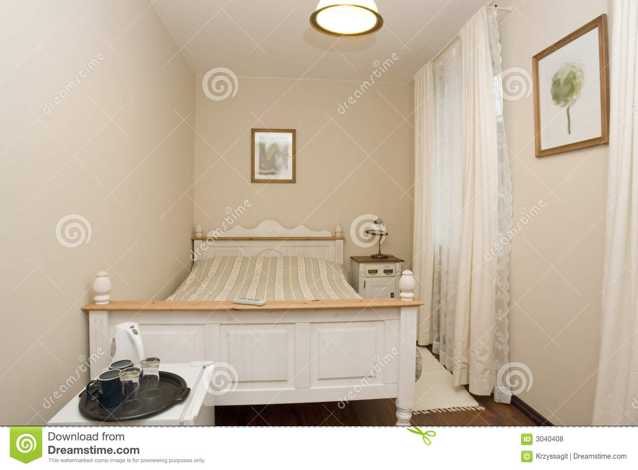 Small white bedroom royalty free stock photos image 3040408 for Small white bedroom