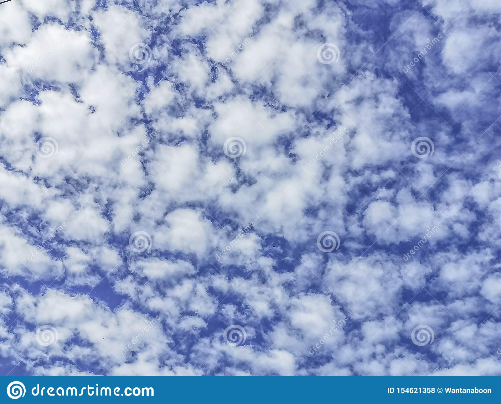 Small white clouds Scattered throughout the blue sky, White cloud in the blue sky, . Beautiful nature background