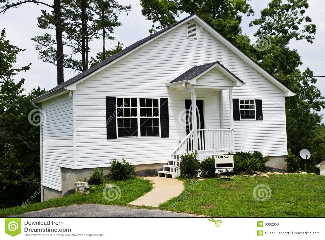 Admirable Small White House For Sale Stock Photo Image Of Foreclosure Download Free Architecture Designs Rallybritishbridgeorg