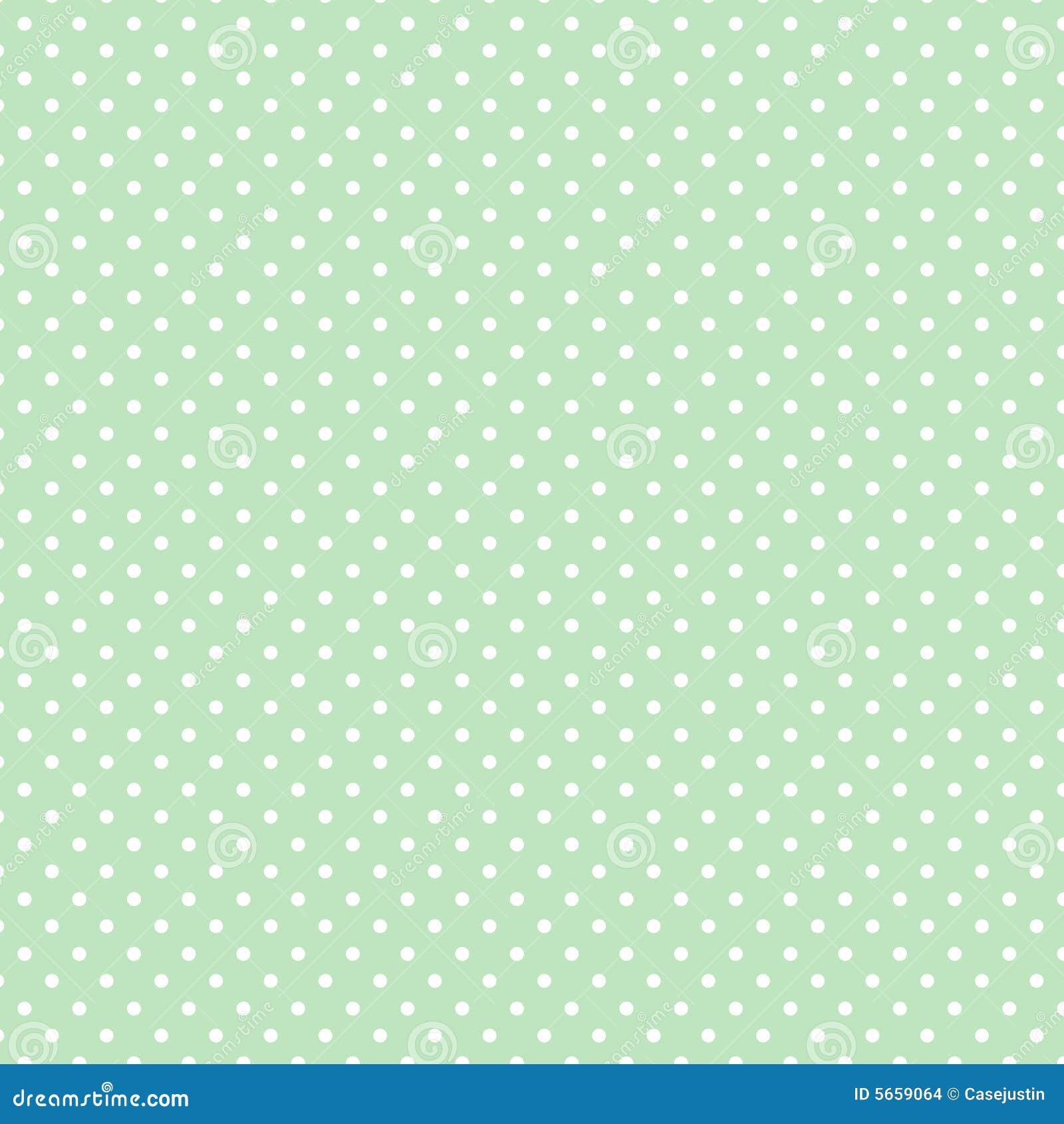 Small White Polka dots on Pastel Green, Seamless Background