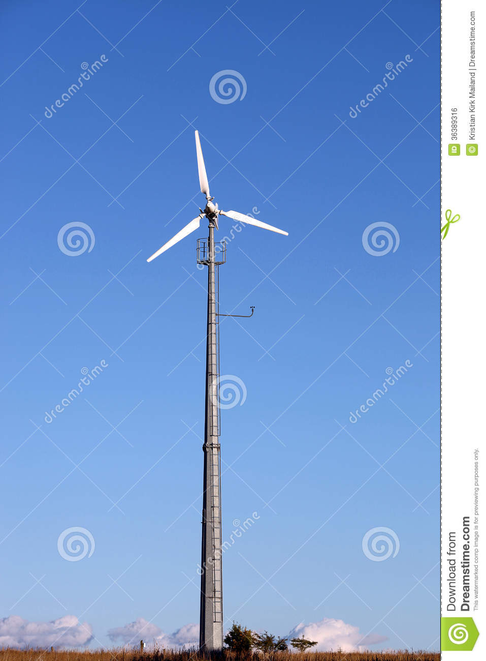 Small Wind Turbine Generating Electricity For The