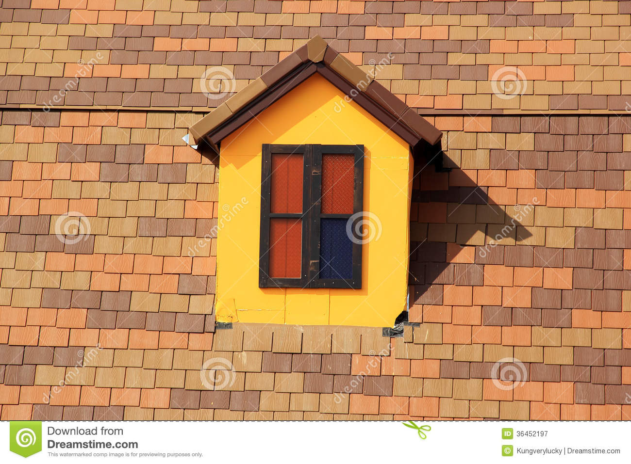 Small Windows On The Roof Stock Image Image Of Structure