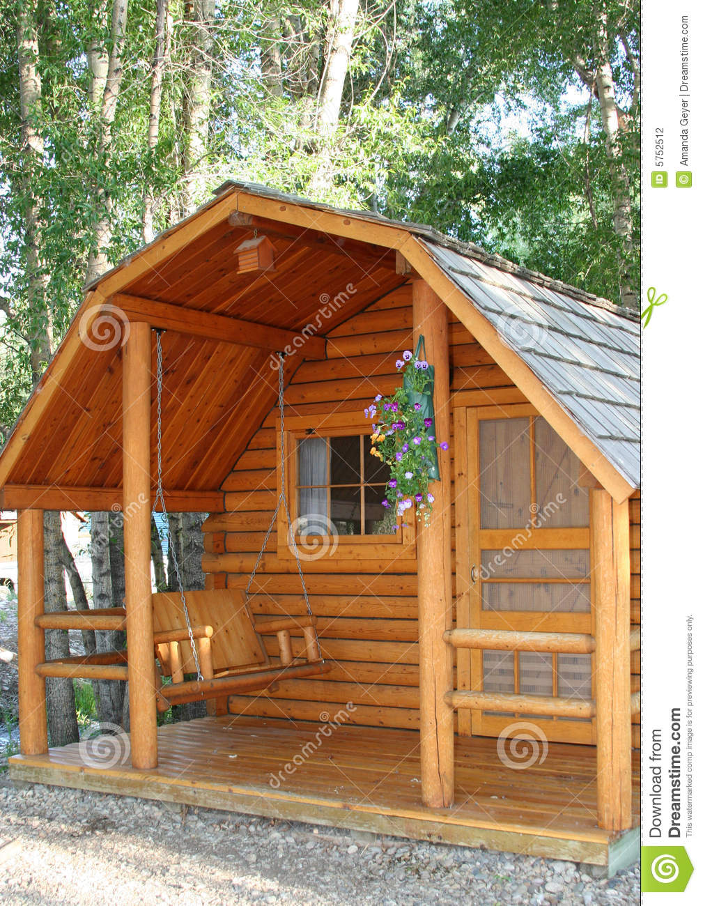 Small wood cabin stock photo image of home vacation for Small lodge plans