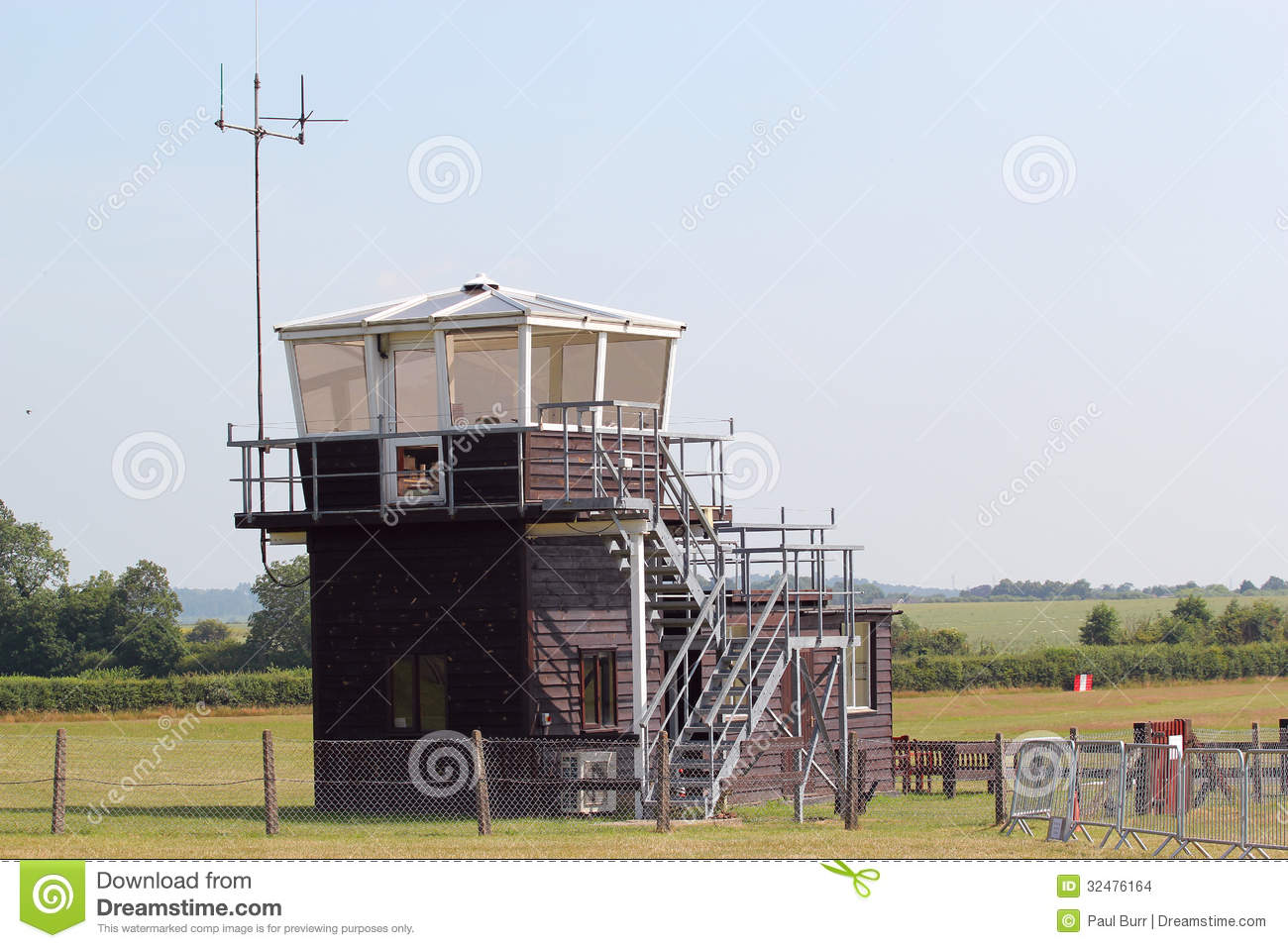 Interior Design Web App Small Wooden Airport Control Tower Stock Images Image