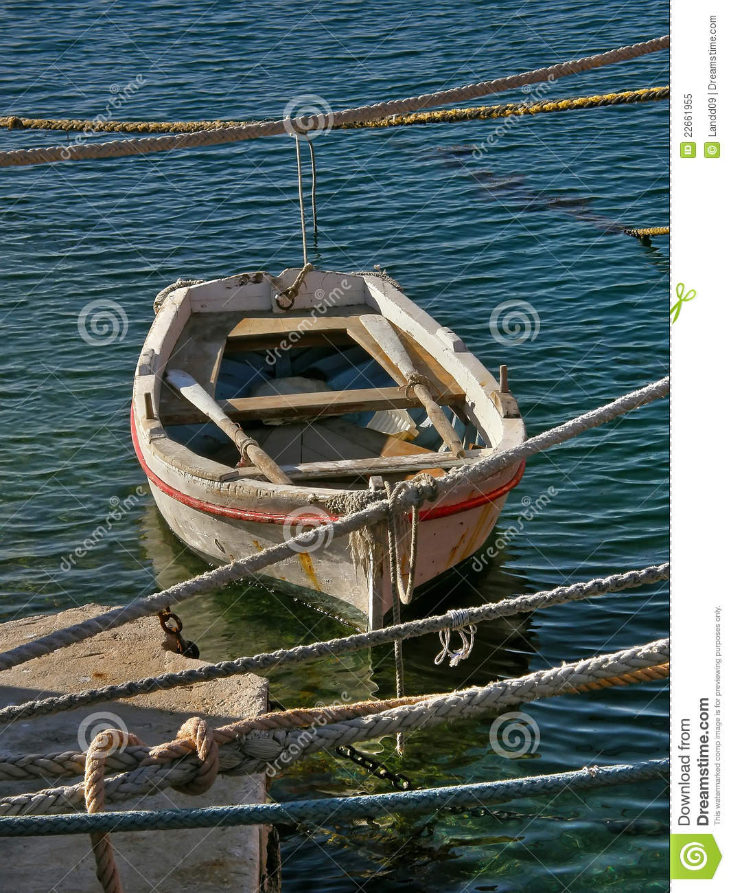 Small Wooden Boats : Small wooden boat stock image of front nautical