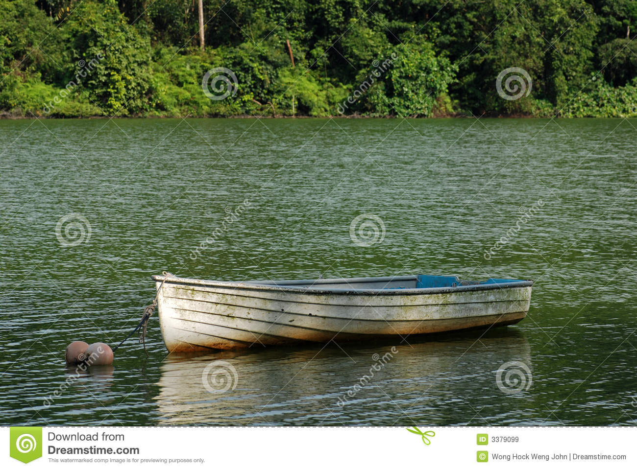 Small Wooden Boat In The Lake Royalty Free Stock Images - Image ...