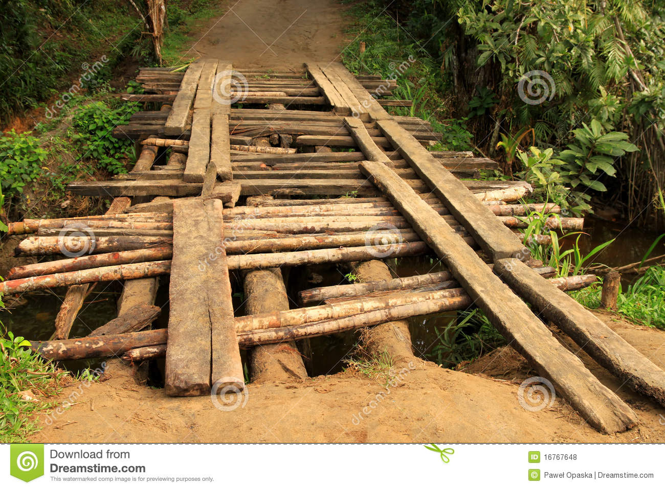 Royalty-Free Stock Photo. Download Small wooden bridge ...