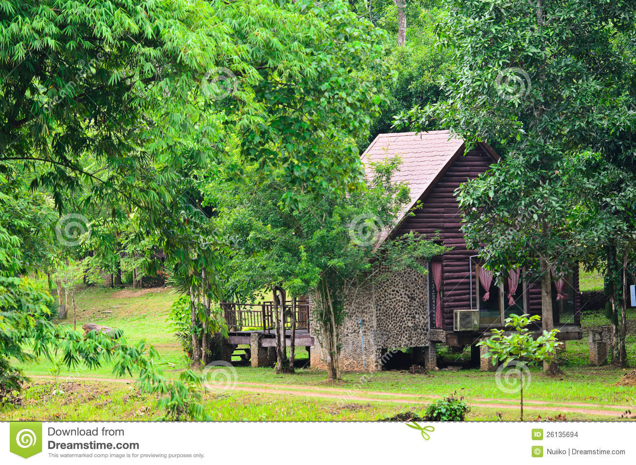 Small Wooden Cottage In The Forest Stock Images Image