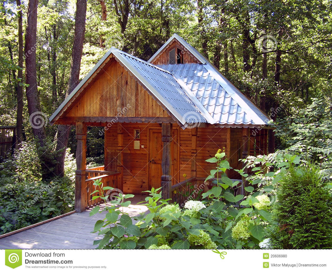 Small Wooden House Stock Photo Image 20606980