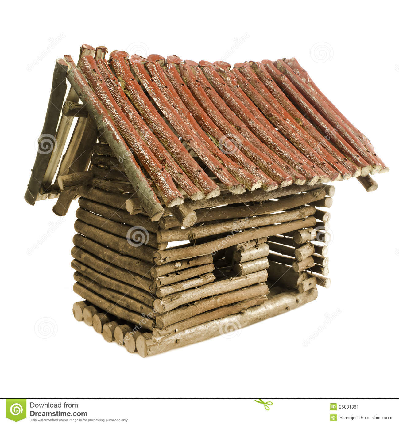 Small wooden house stock illustration image of beautiful for Small wooden house