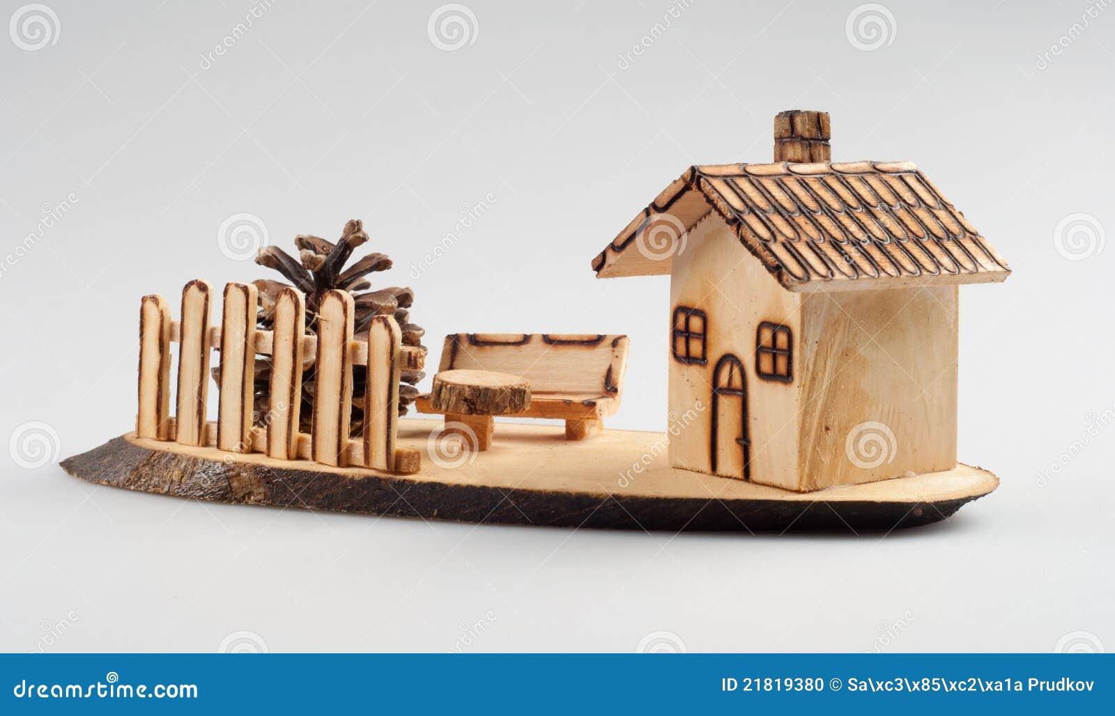 Small wooden house decoration stock photo image 21819380 - Decoration maison en bois ...