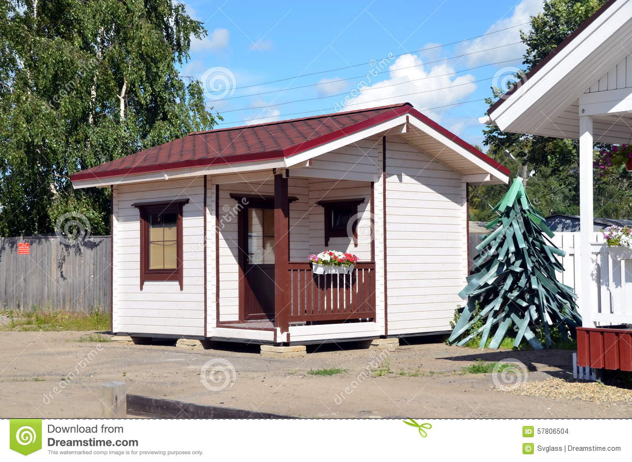 Small Wooden House For Sale Editorial Stock Image Image 57806504