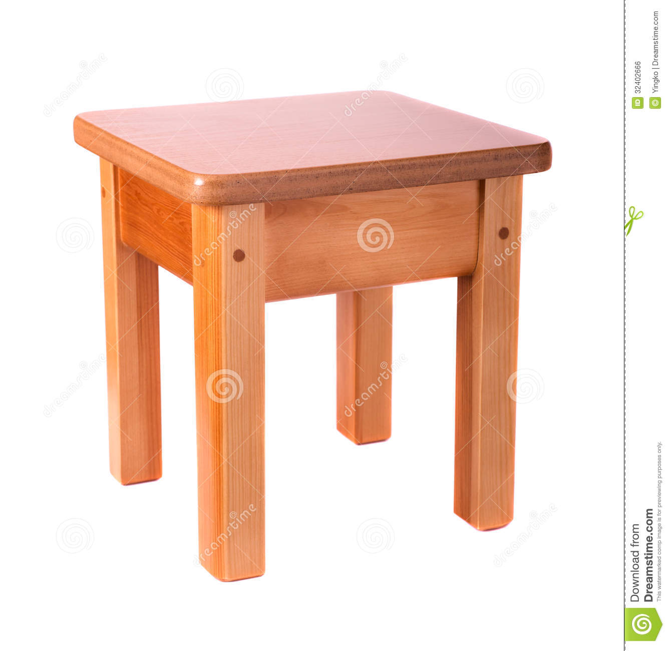 Small Wooden Stool Royalty Free Stock Image Image 32402666